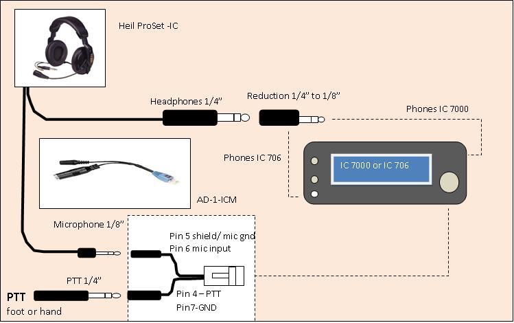 headphone with microphone wiring diagram cat 5b heil proset ic
