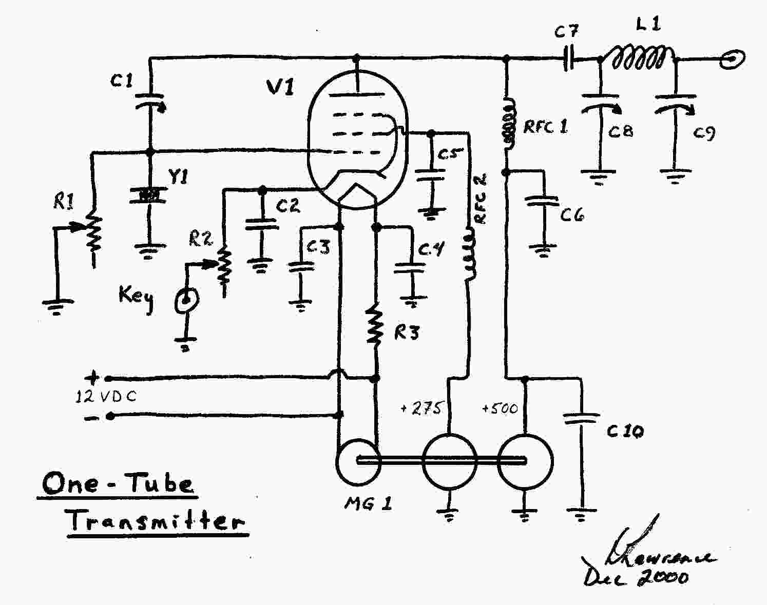 hight resolution of one tube tx schematic