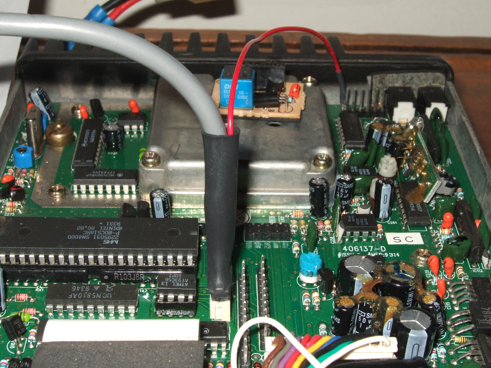 hight resolution of a red wire for powering the programming adapter must be installed onto the external control relay header