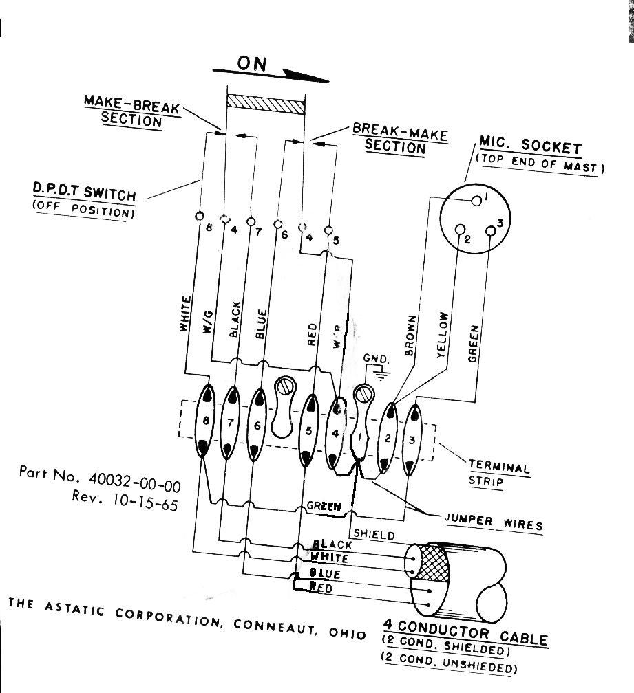 Astatic Mic Wiring Mic | Better Wiring Diagram Online on 4 pin microphone wiring, 4 pin power, 4 pin key, 4 pin microphone pinout kenwood, 4 pin cobra, 4 pin relay wiring, 4 pin fuse, 4 pin telephone jack wiring,