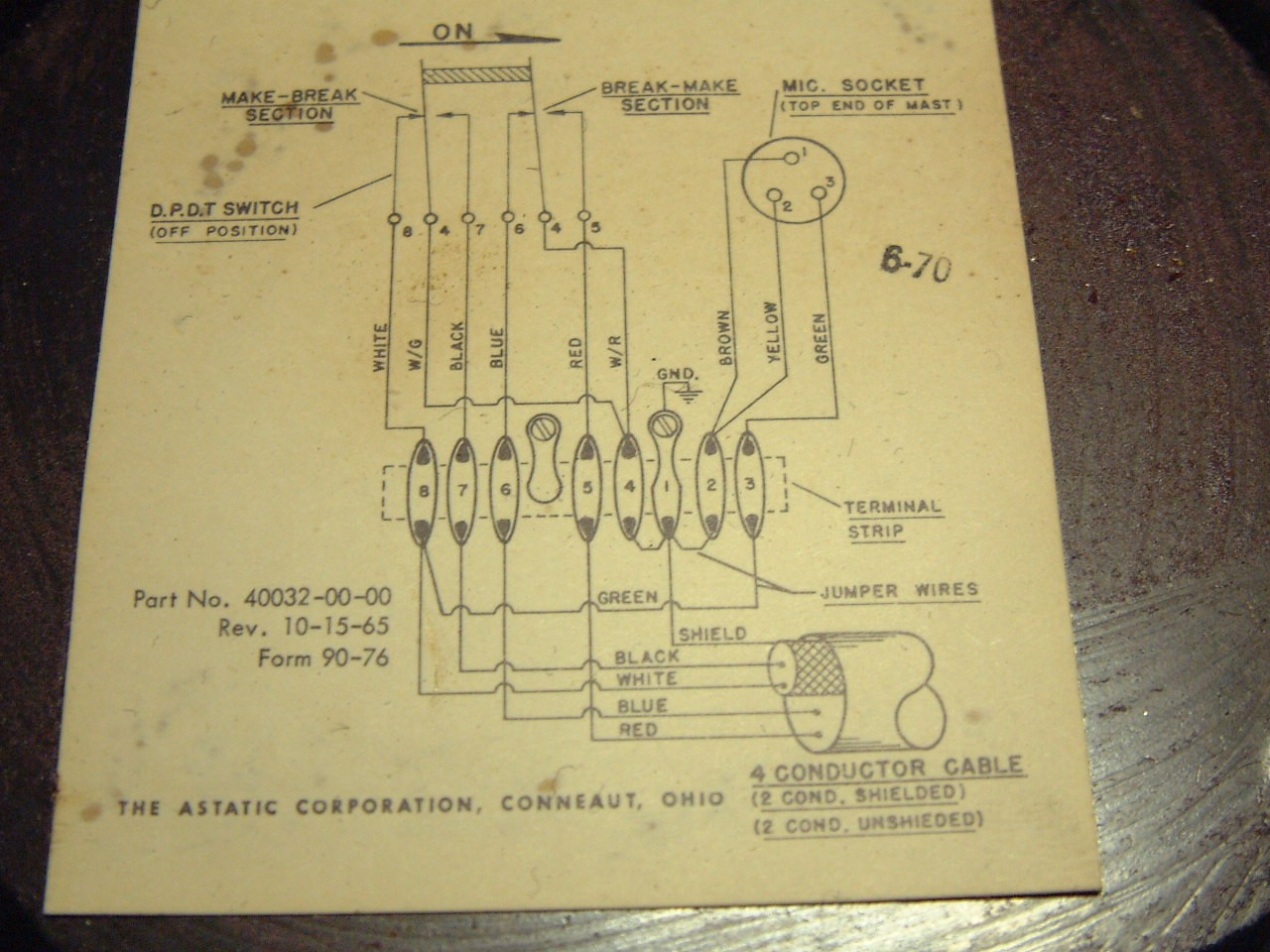 Astatic D 104 Microphone Wiring Wiring Harness Wiring Diagram