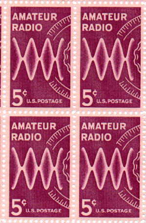 5 cent amateur radio stamp