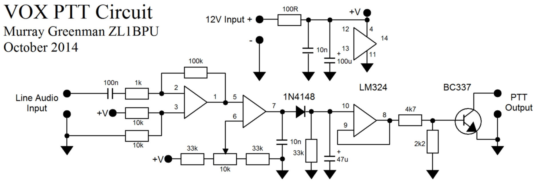 vox headphone amp schematic