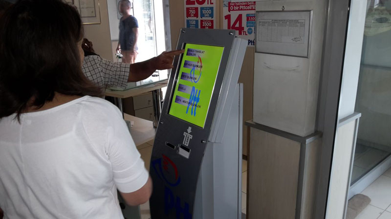 PTT Bank Şubeleri Sıramatik Sistemi - Q-smart Sıramatik Sistemi