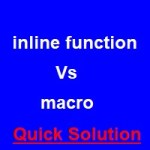 differences between inline function and macro
