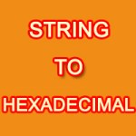 string to hexadecimal
