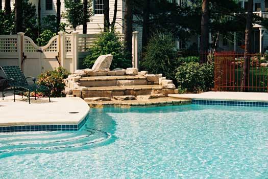 Columbus Ohio Custom InGround Swimming Pool Image Gallery