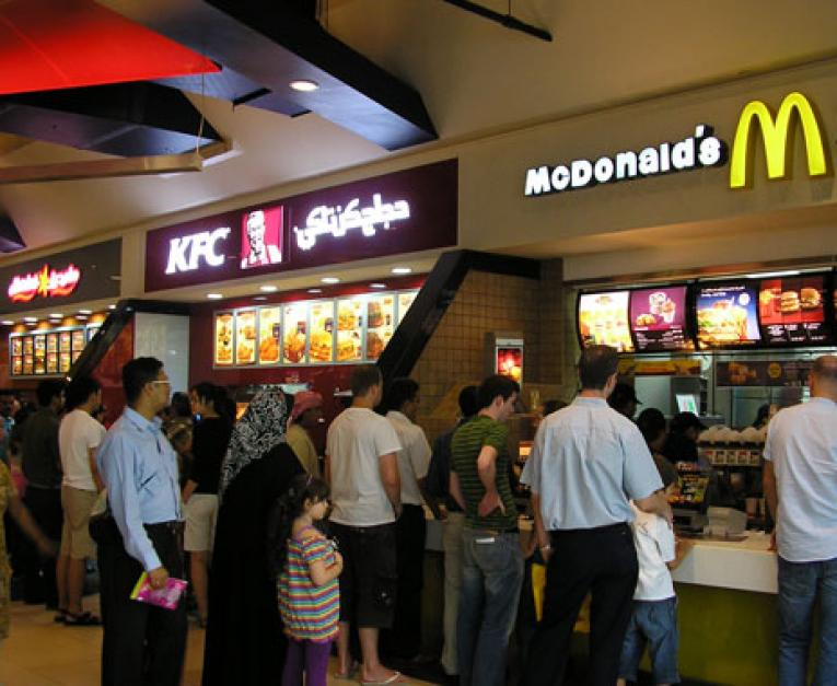 List Popular Fast Food Restaurants