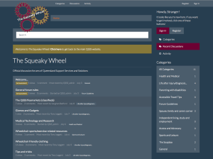 Screenshot of the new Squeaky Wheel discussion forums