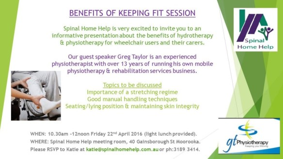 Spinal Home Help Fitness Information Invite