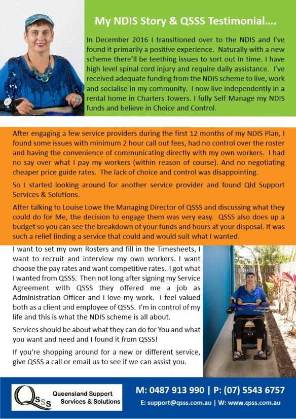 NDIS Testimonial Brochure