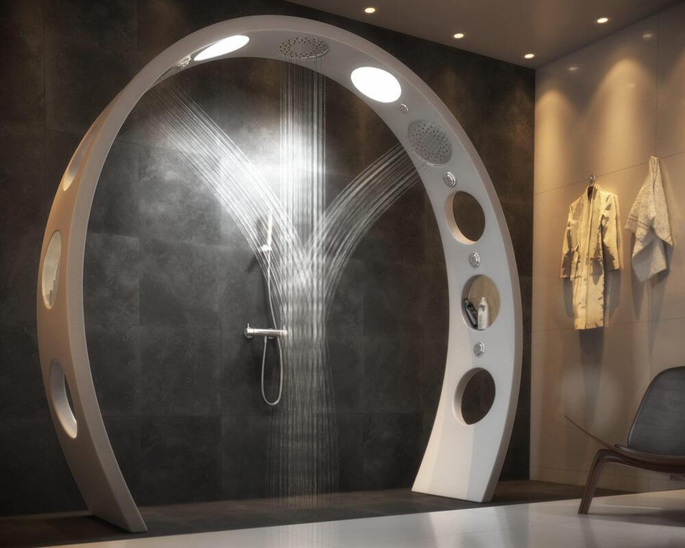 Futuristic Conceptual Bathroom Design  QS Supplies