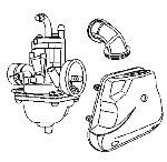 Kreidler Supermoto/Enduro 125 Vergaser Ansaugtrakt Ersatzteile