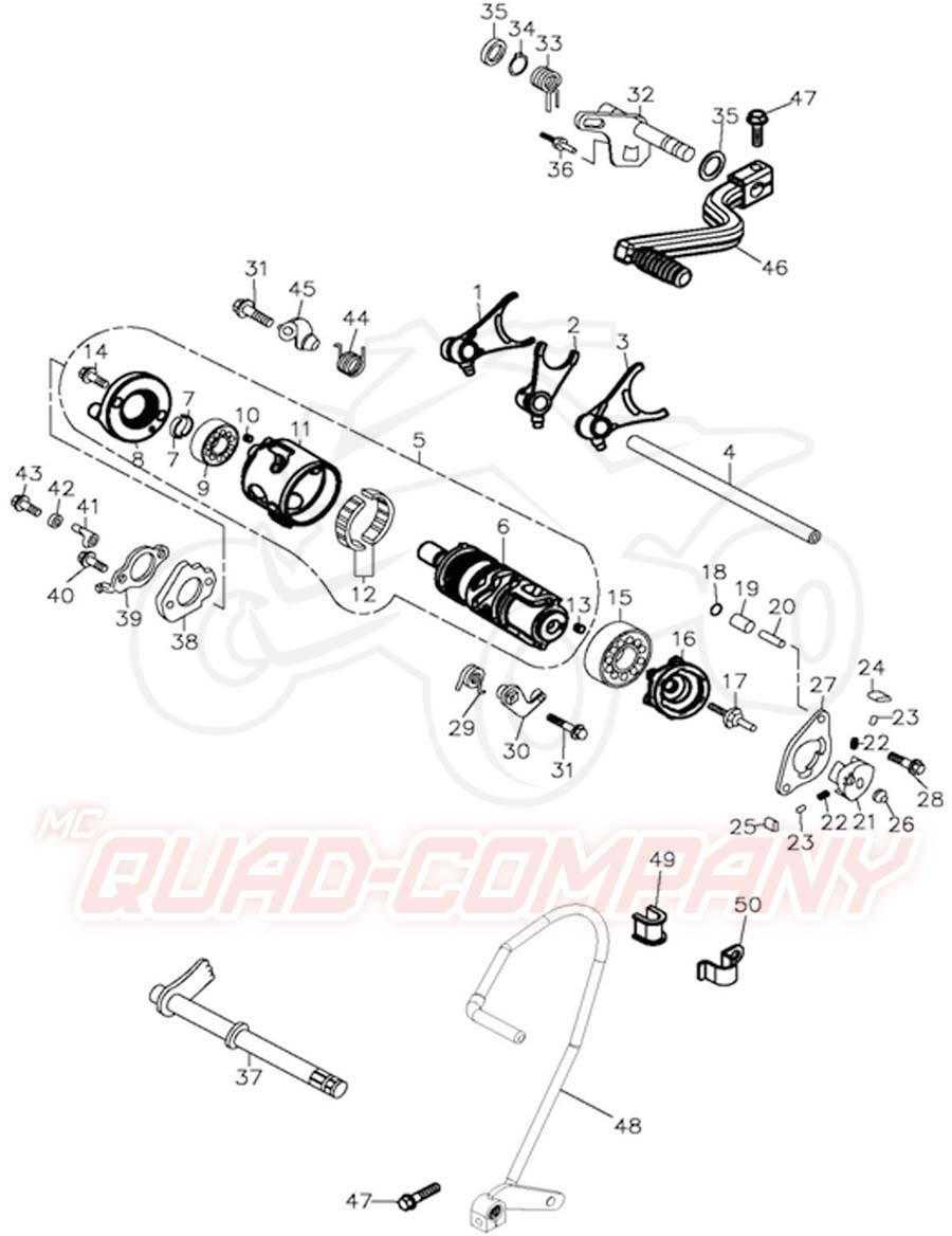 Adly ATV 300 Utility Schaltung Ersatzteile