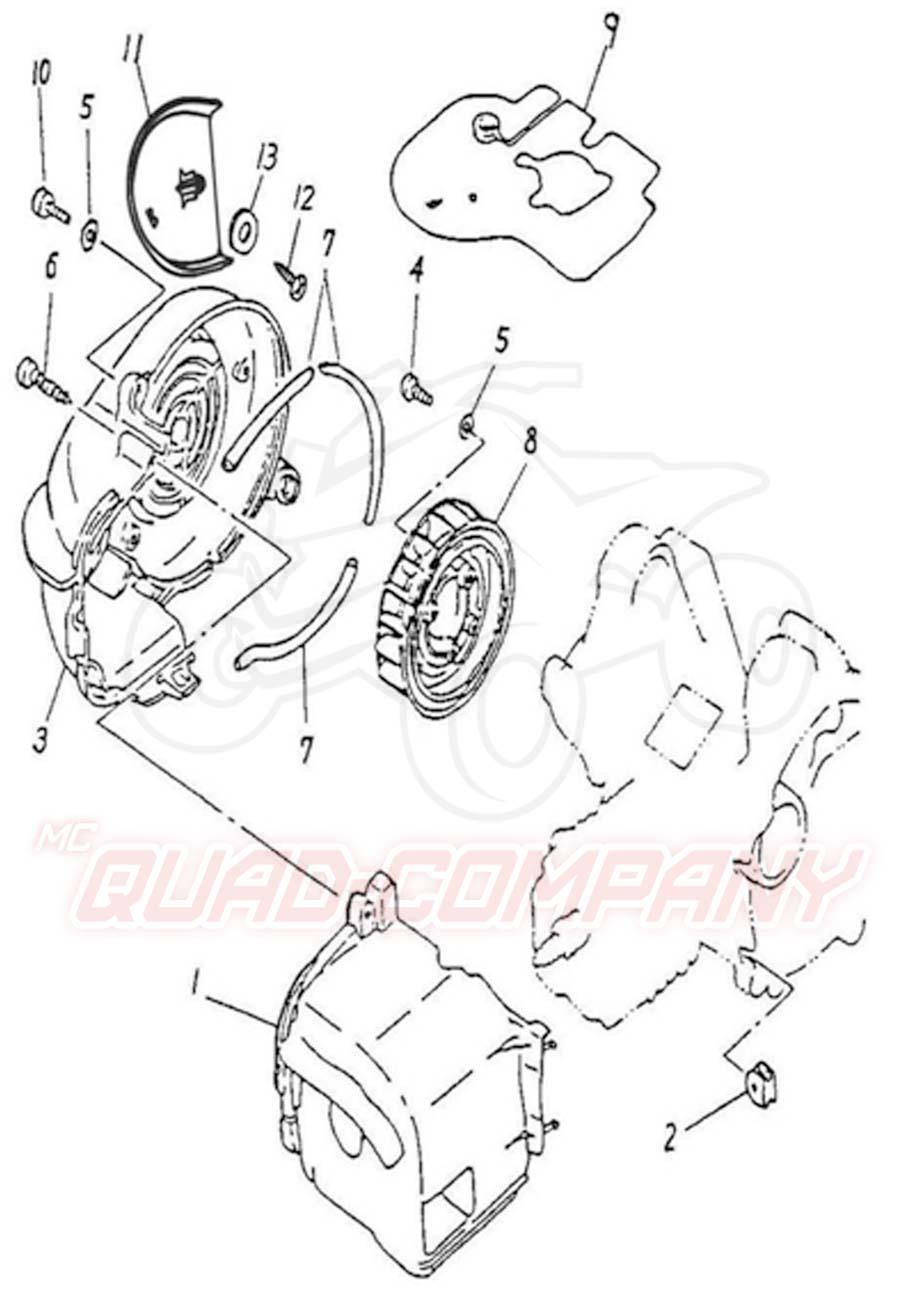 Adly ATV 50 RS XXL AC weiß-blau Lüftung Ersatzteile