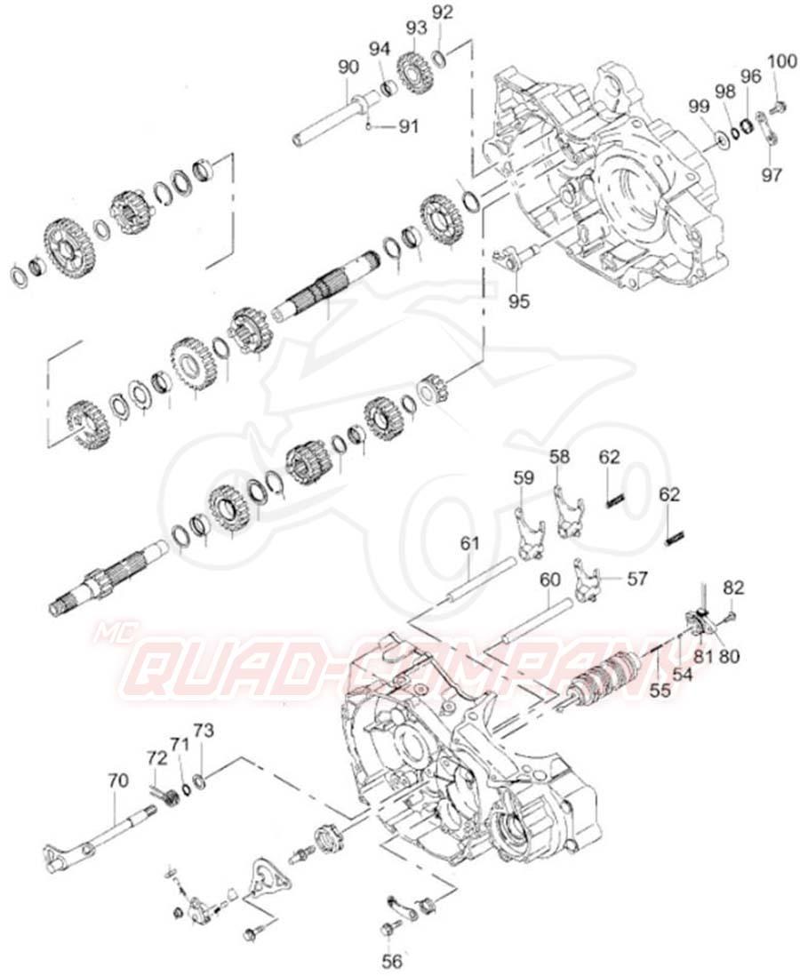 Adly ATV 500 Hurricane Getriebe 2 Ersatzteile