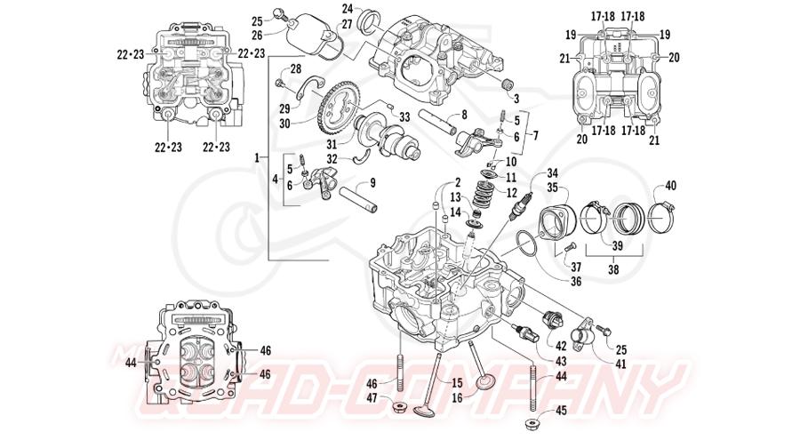 Arctic Cat ATV 550 H1 PS EFT T3 Bj. 11 Zylinderkopf