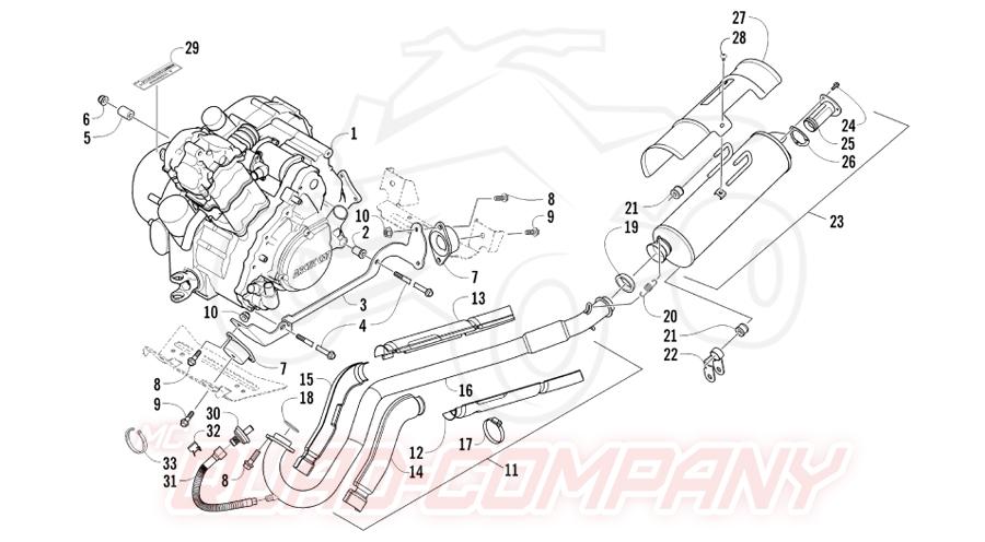 Arctic Cat ATV 550 H1 TRV EFI EFT T3 Bj. 11 Motor und