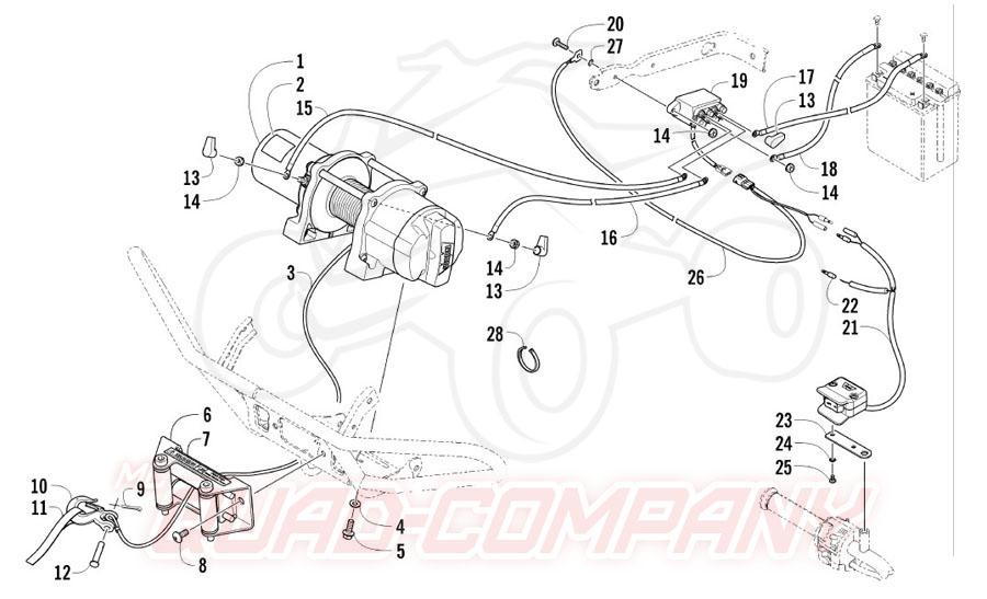 Arctic Cat ATV 550 TRV EFT Bj. 12 Seilwinde Ersatzteile