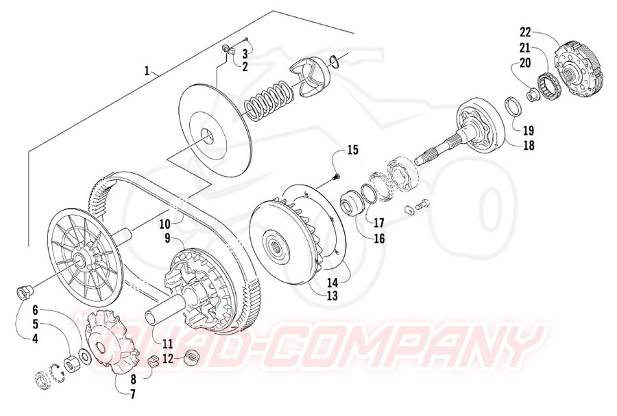 Arctic Cat ATV 550 TRV GT EFT Bj. 12 Getriebe Ersatzteile
