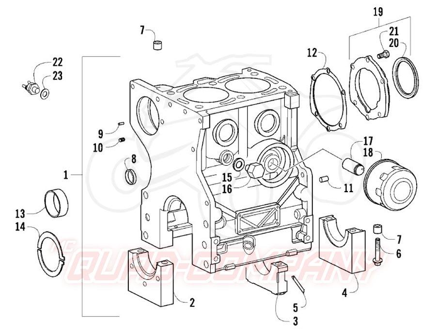 Arctic Cat ATV 700 Diesel EFT Mod. 2011 Kurbelgehäuse und