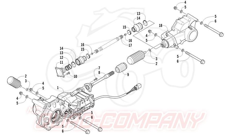 Arctic Cat ATV 700 Diesel EFT Mod. 2012 Antriebseinheit