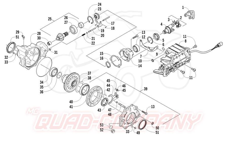 Arctic Cat ATV 700 Diesel EFT Mod. 2012 Getriebe