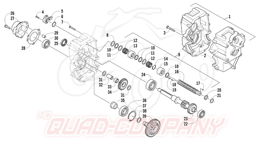 Arctic Cat ATV 700 Diesel EFT Mod. 2012 Getriebe rechts