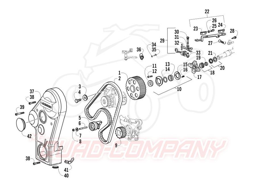 Arctic Cat ATV 700 Diesel EFT Mod. 2012 Zahnriemen und