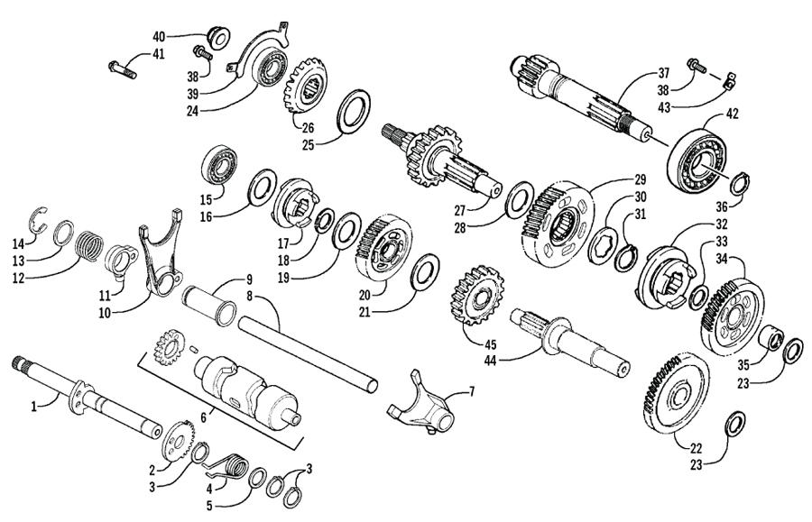 Arctic Cat ATV 250 Utility ab Bj. 06 Getriebe Ersatzteile