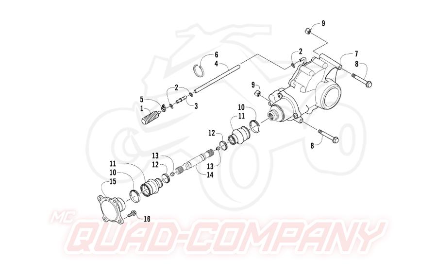 Arctic Cat ATV 400 2x4/4x4 EFT Bj. 09 Antriebseinheit 2x4