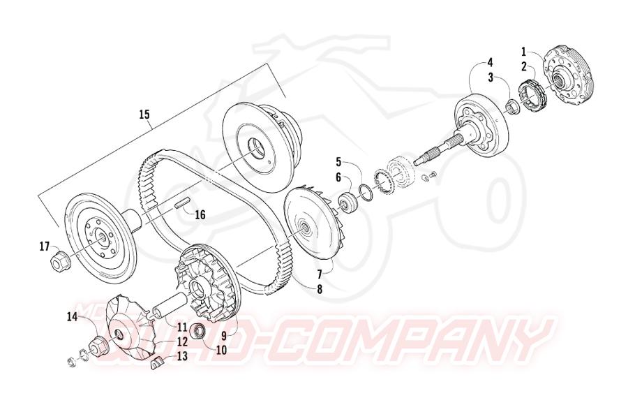 Arctic Cat ATV 400 2x4/4x4 EFT Bj. 09 Getriebe Ersatzteile