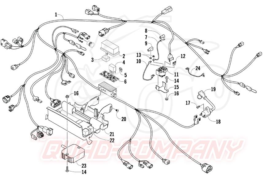 Arctic Cat ATV 400 4x4 Euro Bj. 08 Kabelbaum Ersatzteile