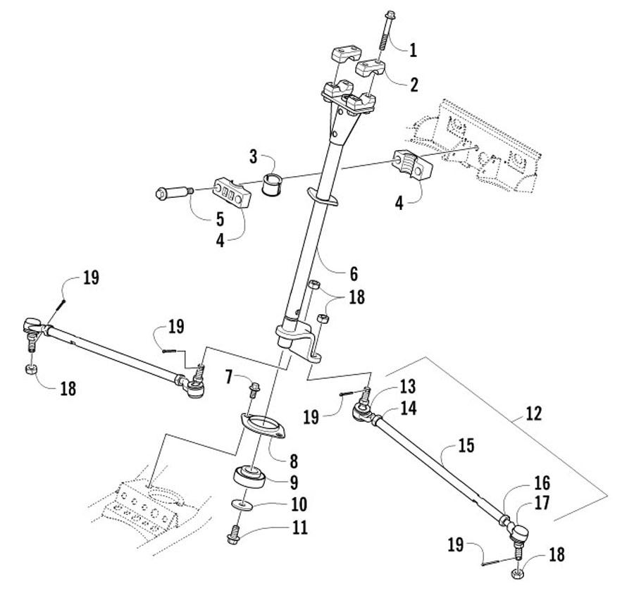 Arctic Cat XC 450 EFT Bj. 12 Lenkung Ersatzteile