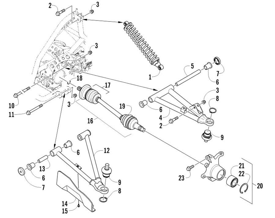 Arctic Cat XC 450 EFT Bj. 12 Vorderradaufhängung Ersatzteile