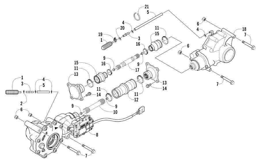 Arctic Cat XC 450 EFT Bj. 11 Antriebseinheit Ersatzteile