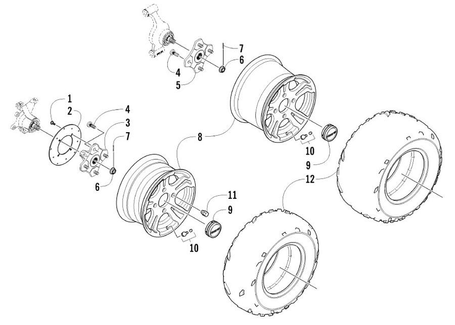 Arctic Cat XC 450 EFT Bj. 11 Räder und Reifen Ersatzteile
