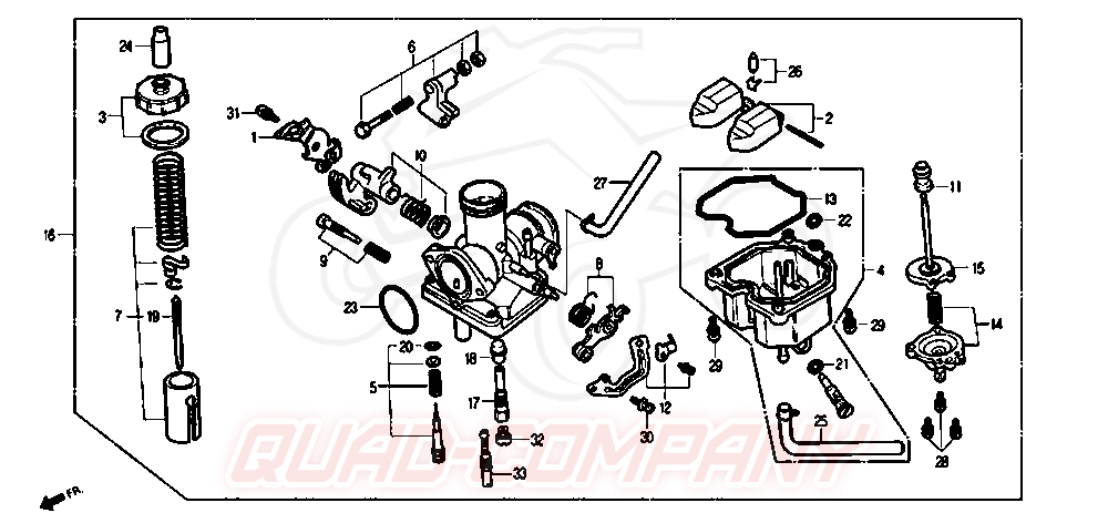 Daelim VS 125 ab Bj. 06 Vergaser Ersatzteile