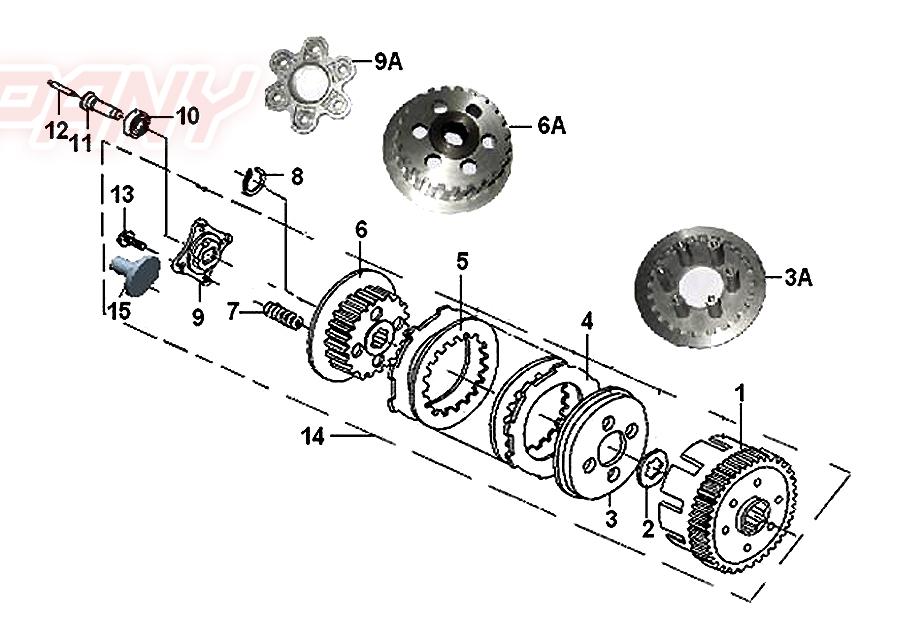 Keeway Speed 125 Kupplung Ersatzteile
