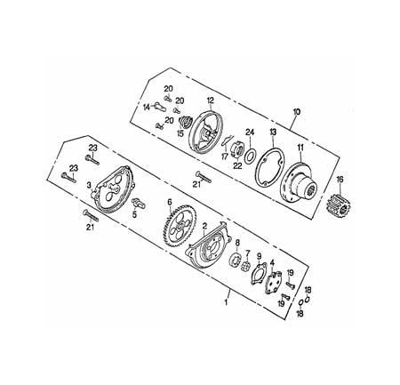 Rex Quad 150ccm (1-Zyl.) Ölpumpe Ersatzteile