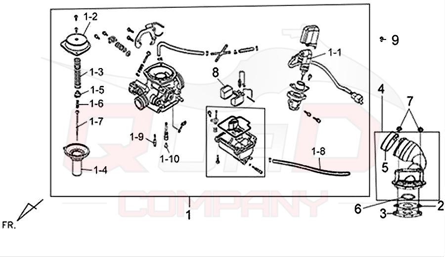SYM Fiddle 2 50 (AF05W-F) Vergaser Ersatzteile
