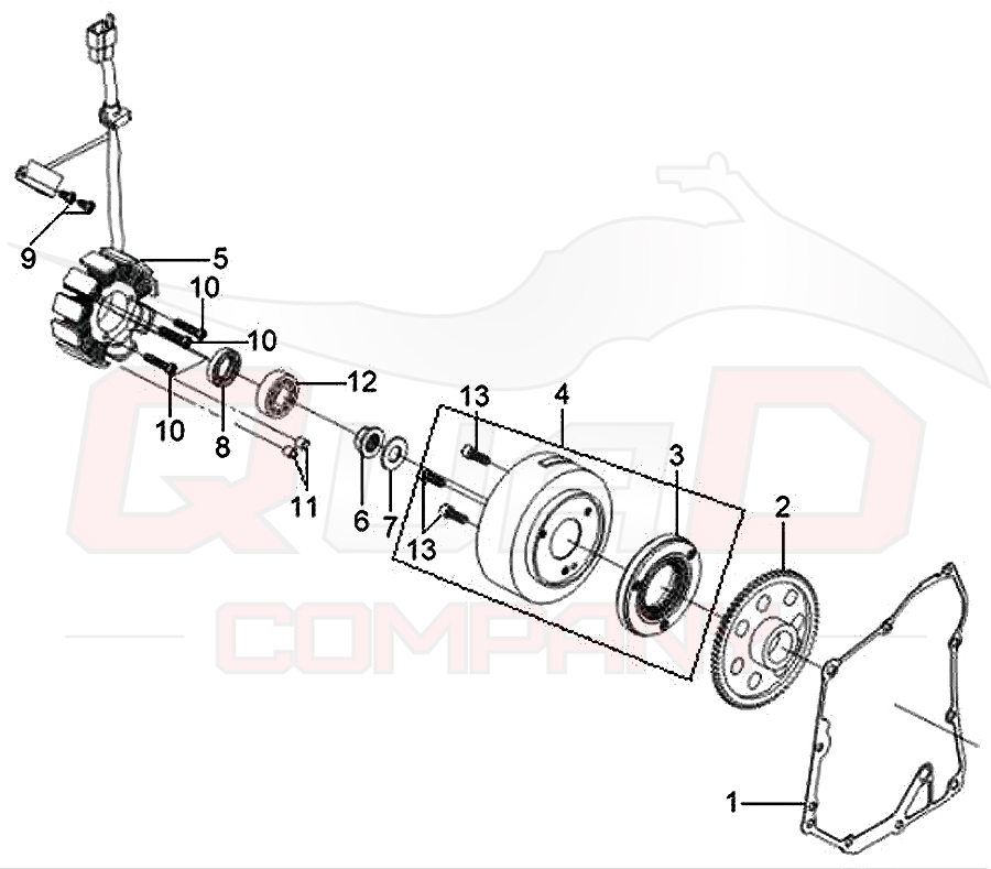 SYM GTS 250 (LM25W-6) Lichtmaschine Anlasserfreilauf