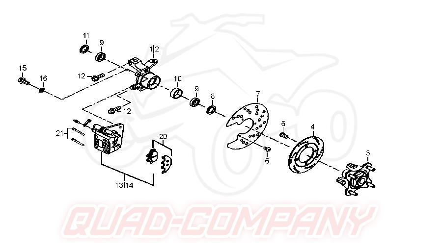 TGB Blade 500 IRS Vorderradbremse Ersatzteile