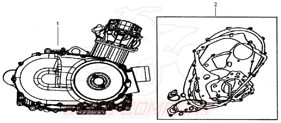 TGB Blade 550 EFI Facelift LT (Einspritzung) Motor Ersatzteile