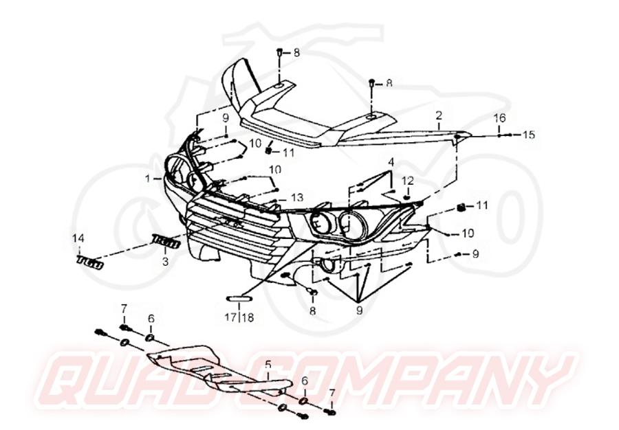 TGB Blade 550 EFI Facelift LT (Einspritzung) Stossstange