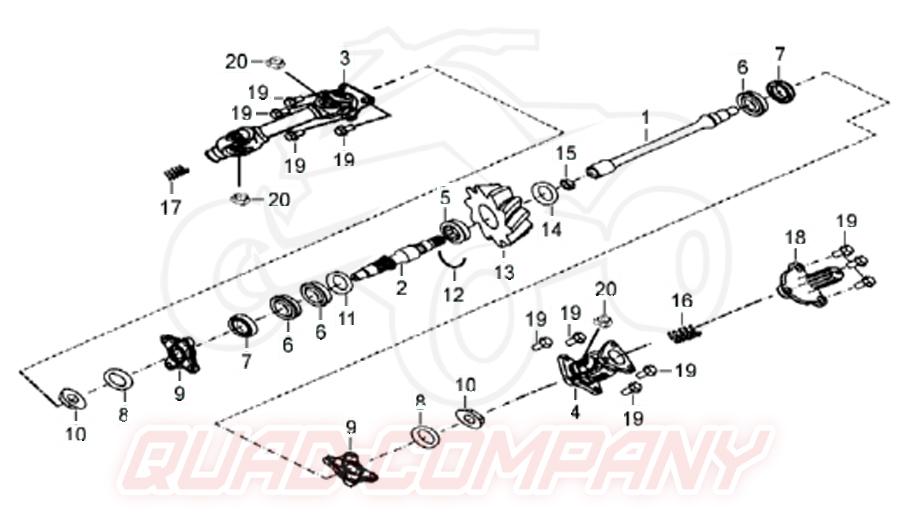 TGB Blade 550 LT (Vergaser) Getriebe Ersatzteile