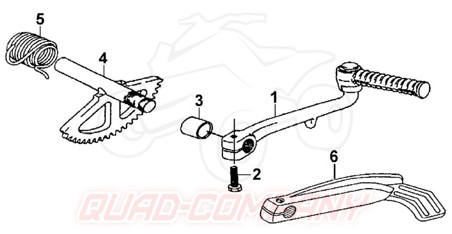 TGB Bullet 50 Mod. 2009 Kickstarter Ersatzteile