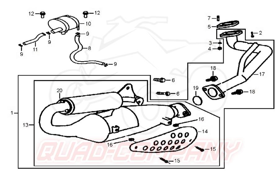 TGB Tapo RS 50 Auspuff Ersatzteile
