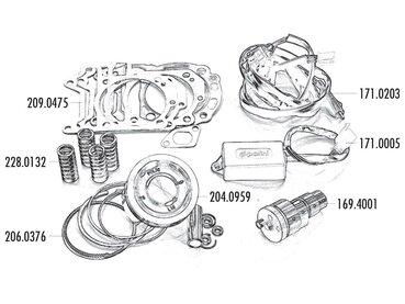 Vespa GTS 300ie Super Sport ZAPM45 (Quasar) Zylinder