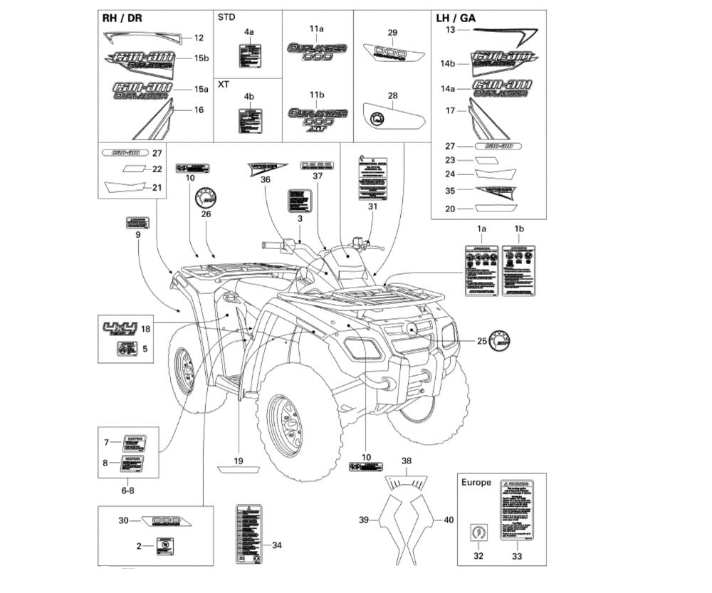 medium resolution of aufkleber motor rahmen outlander 800 xt 2008 ersatzteile can am outlander 800 ersatzteile can am einzelfahrzeuge ersatzteile quad atv